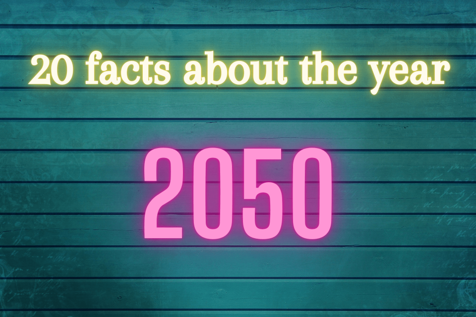 20 facts about the year 2050